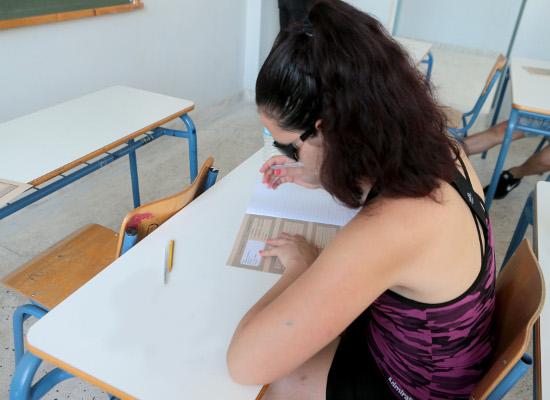 Μαθητές συμμετέχουν στις Πανελλαδικές Εξετάσεις στο 1ο ΕΠΑΛ Ζωγράφου , Πέμπτη 7 Ιουνίου 2018. Ξεκίνησαν οι Πανελλαδικές Εξετάσεις στο Επαγγελματικά Λύκεια με πρώτο μάθημα την Ελληνική Γλώσσα. ΑΠΕ-ΜΠΕ/ΑΠΕ-ΜΠΕ/Παντελής Σαίτας